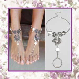 Shoes - 🎀  NEW SILVER ANKLE BAREFOOT JEWELRY SANDAL CHARM